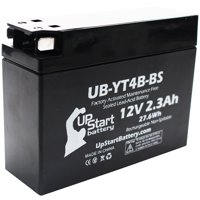 Replacement 2006 Yamaha TTR50E 50CC Factory Activated, Maintenance Free, Motorcycle Battery - 12V, 2.3Ah, UB-YT4B-BS