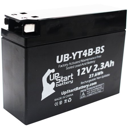 Replacement 2006 Yamaha TTR50E 50CC Factory Activated, Maintenance Free, Motorcycle Battery - 12V, 2.3Ah, (04 Replacement Motorcycle Battery)