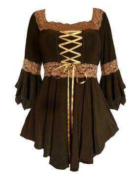 Dare To Wear Victorian Gothic Boho Renaissance Corset Top S - 5x