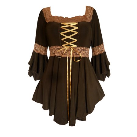 ced6cd1a56a Dare Fashion - Dare To Wear Victorian Gothic Boho Renaissance Corset Top S  - 5x - Walmart.com