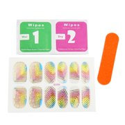 5 Sets Arrow Pattern Glitter Adhesive Full Nail Stickers Manicure Tips
