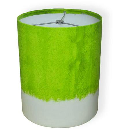 """10"""" Drum Lamp Shade, Green Watercolor"""