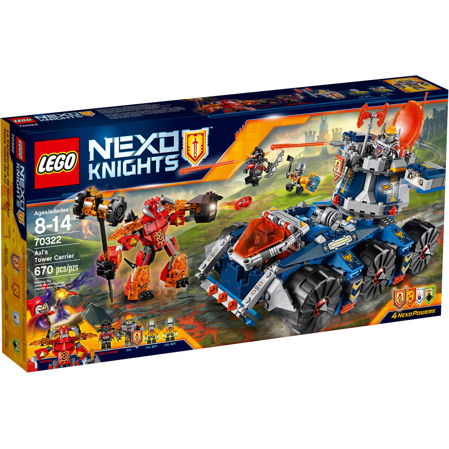 LEGO NEXO KNIGHTS Axl's Tower Carrier, 70322