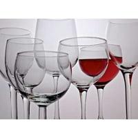 Wine Glasses Stretched Canvas - Monika Burkhart (9 x 12)