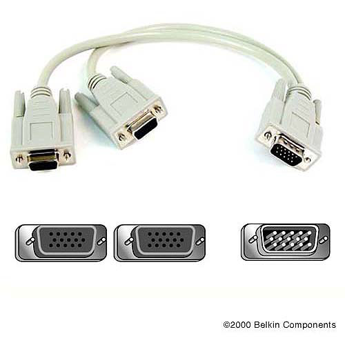 """Belkin Pro Series VGA Monitor Signal """"Y"""" Cable"""