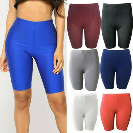 Summer Beach Casual Women Shorts Elastic High Waist Hot Running Short Legging Fitness Gym Yoga Pants Solid Shorts Sport Trouser 6 Colors