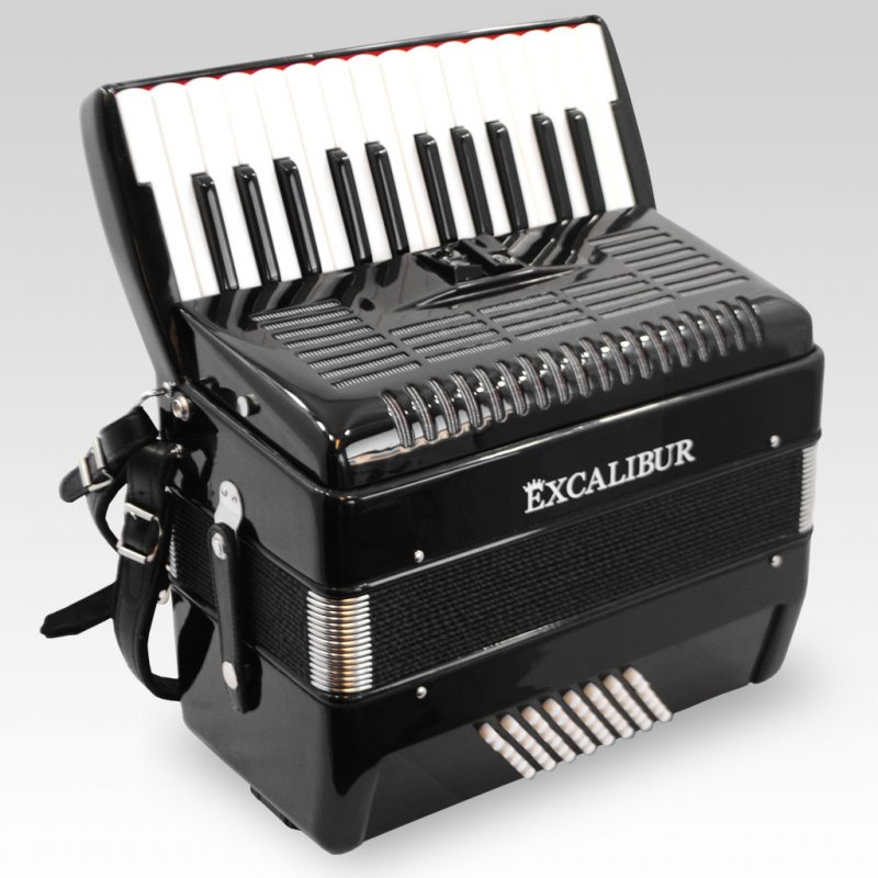 Excalibur German Weltbesten Ultralite 48 Bass Piano Accordion Ebony Polish by