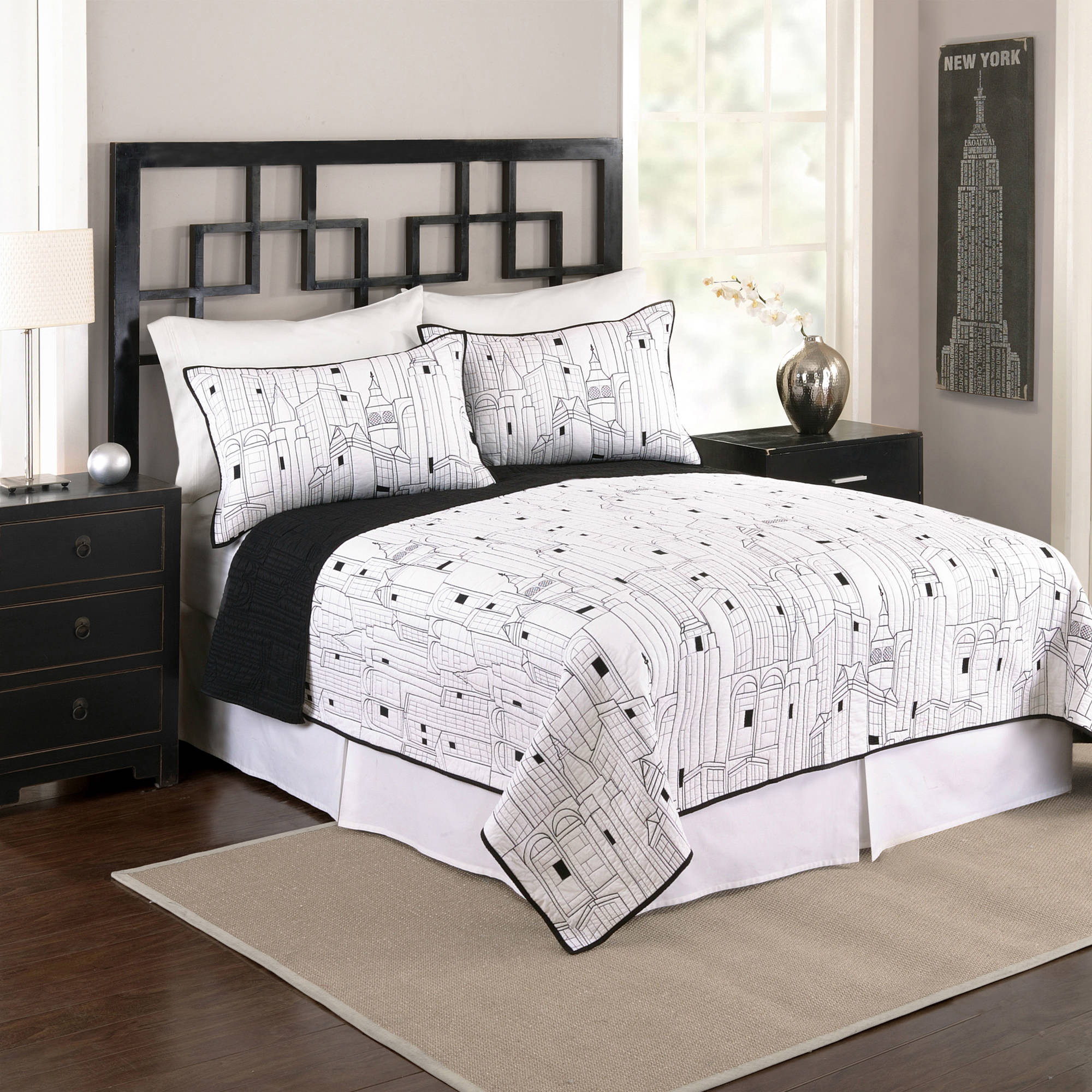 Better Homes and Gardens City Life Bedding Quilt Collection