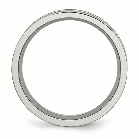 Titanium Grooved 8mm Brushed Wedding Ring Band Size 7.50 Fashion Jewelry For Women Gifts For Her - image 7 of 10