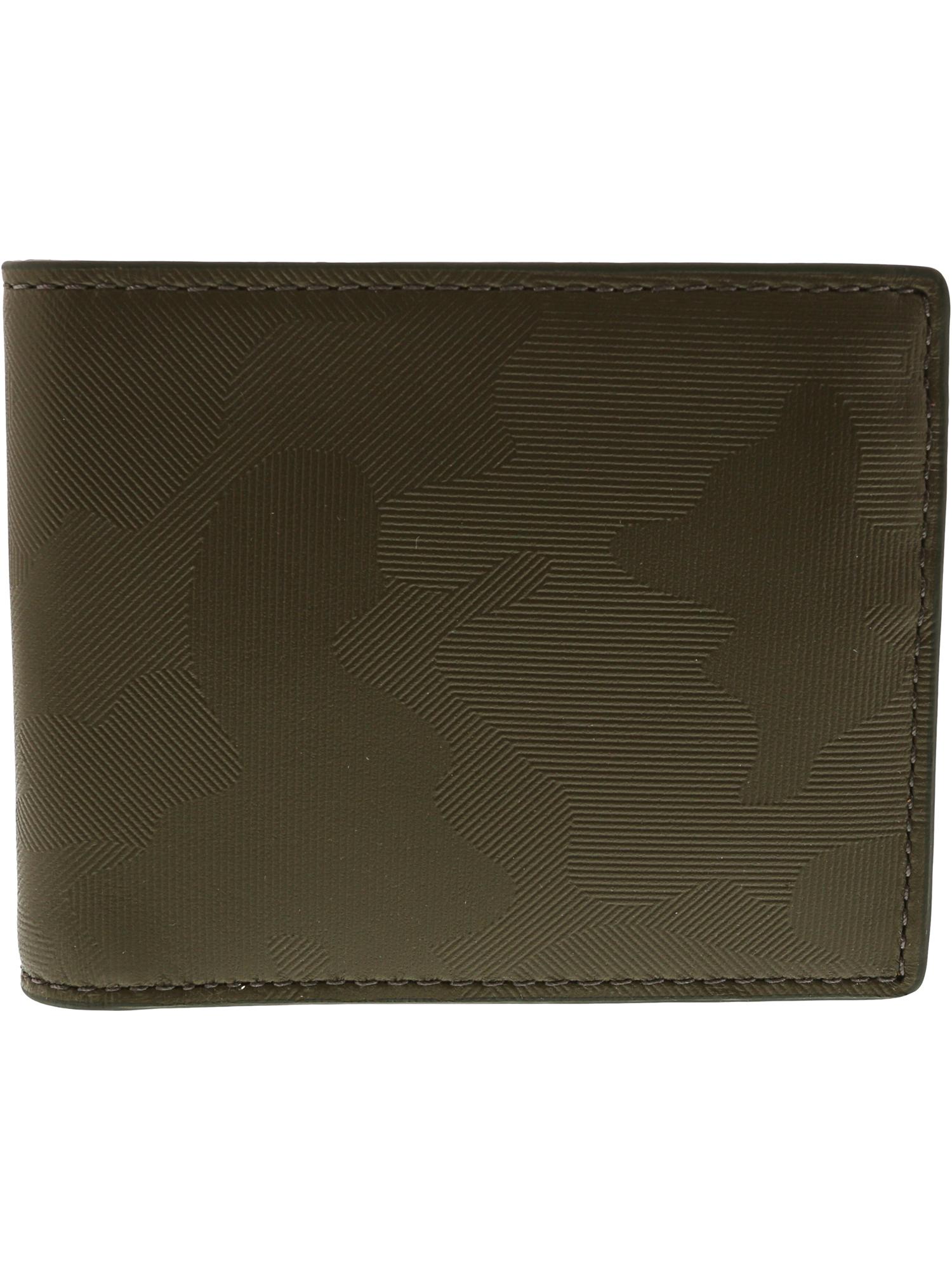 Fossil Men's Jasper Flip Id Bifold Leather Wallet - Green