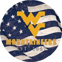 "West Virginia Mountaineers 12"" Team Color Flag Sign"