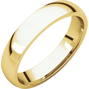 10K Yellow 4mm Light Comfort Fit Band