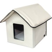 ALEKO PHH01S Portable Heated Outdoor Indoor Pet House Collapsible Dog Cat Shelter