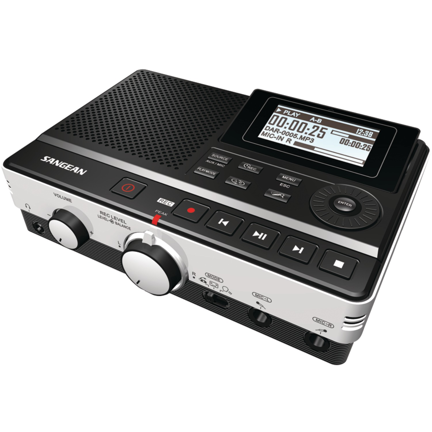 Sangean Dar-101 Digital Audio Recorder With Phone Answering Capability