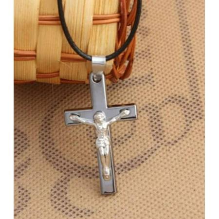 Christian Cross Necklace Jesus on the Cross Crucifix Pendant Anti-Tarnish Resistant Religious Jewelry J-184