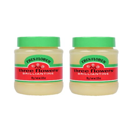 CLUBMAN THREE FLOWERS TRES FLORES Solid Brilliantine Hair Pomade 2 x