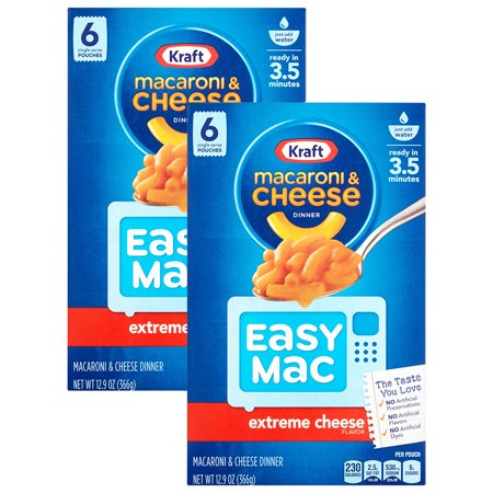 Kraft Dinner Halloween ((2 Pack) Kraft Easy Mac Extreme Cheese Macaroni & Cheese Dinner, 8 - 12.9 oz)
