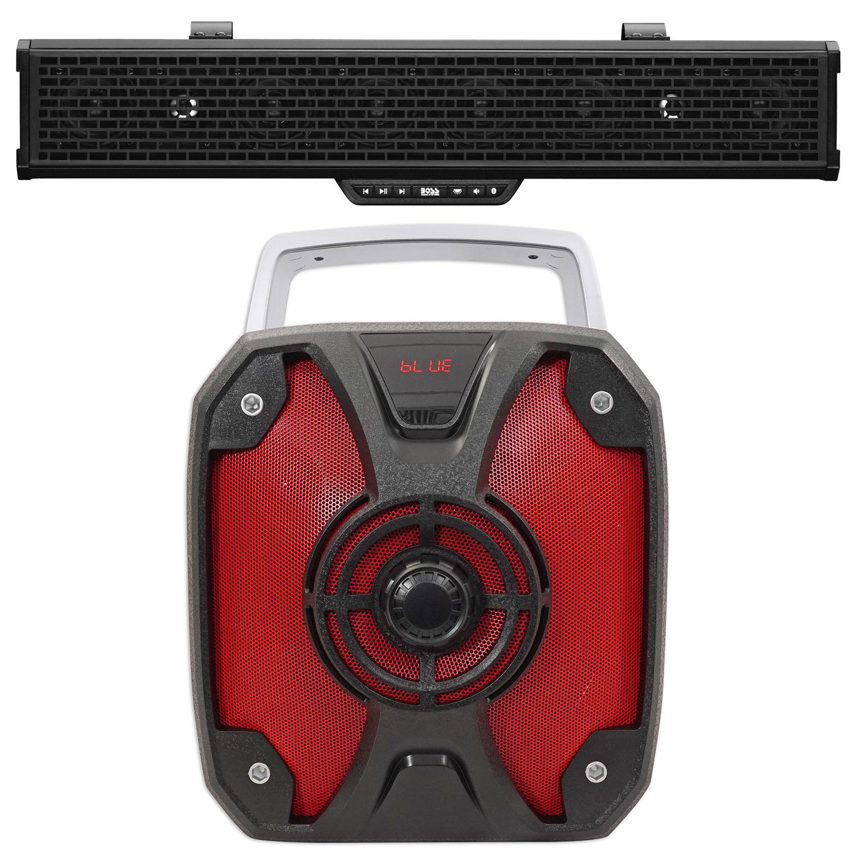 Boss BRT27A 500w LED Sound Bar+Bluetooth Controller For RZR/ATV/UTV/Cart+Rockbox