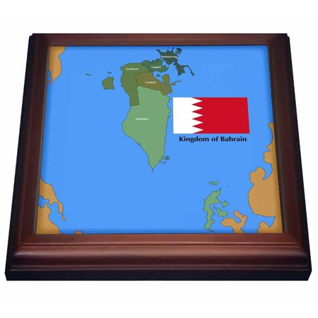 3dRose The flag and map of the Persian gulf country, Kingdom of Bahrain on kingdom of kongo on map, united kingdom on map, kingdom of benin on map, kingdom of zimbabwe on map,