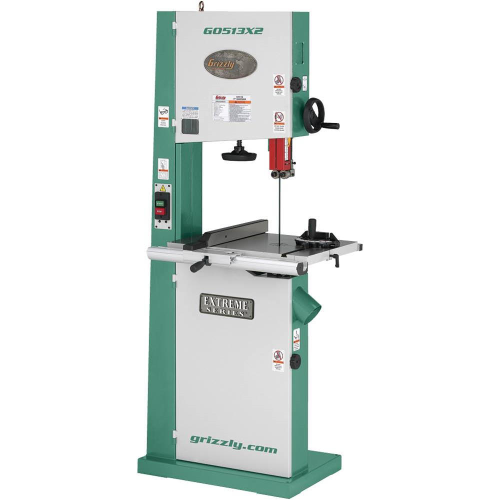 "Grizzly G0513X2 17"" Bandsaw 2HP w/Cast Iron Trunnion"