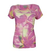 JM Collection Women's Short Sleeve Floral V-Neck Top