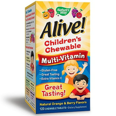Natures Way Alive  Childrens Multivitamin Chewables  120 Ct