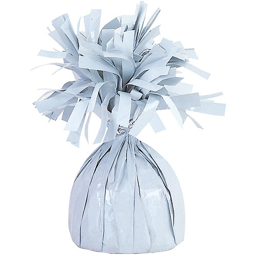 Foil Balloon Weight, White, 1ct