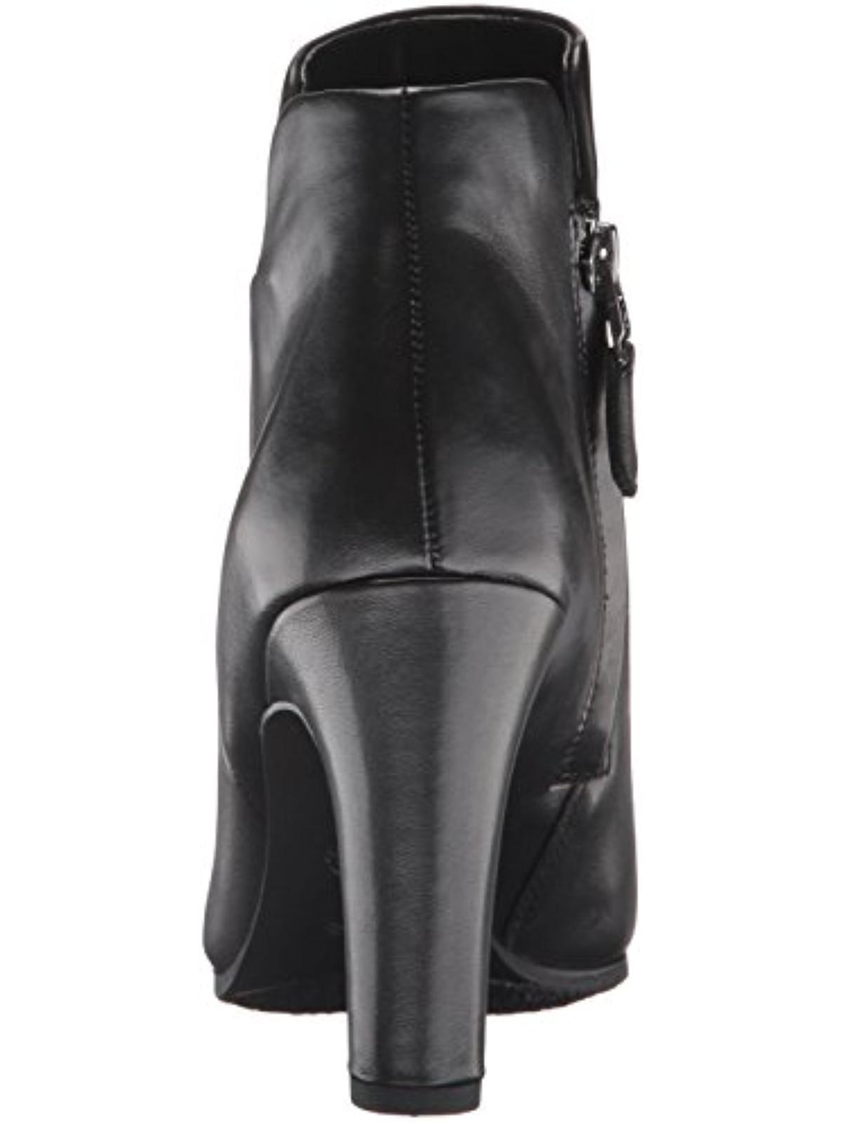 Sam Edelman Womens Shelby Leather Round Toe Ankle Boots Black 10 Medium (B,M)