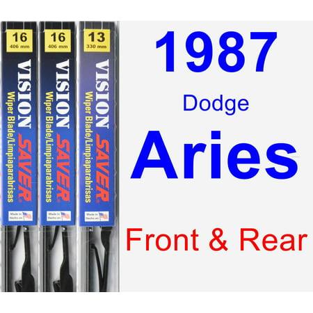 1987 Dodge Aries Engine - 1987 Dodge Aries Wiper Blade Set/Kit (Front & Rear) (3 Blades) - Vision Saver