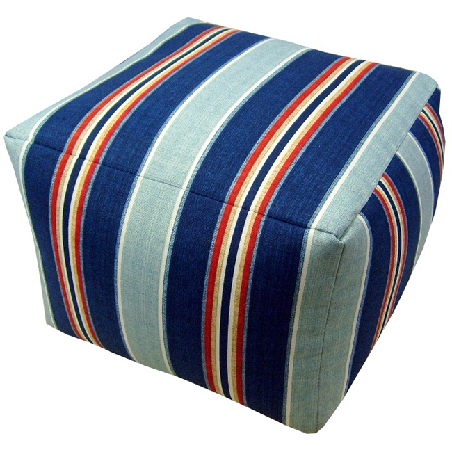 "lava Nautical Stripe Indoor Outdoor Pouf, 17"" x 12"" by Lava"