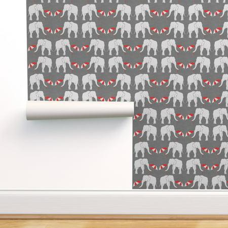 Peel And Stick Removable Wallpaper Elephant Circus Kids Nursery Animal Walmart Com Walmart Com