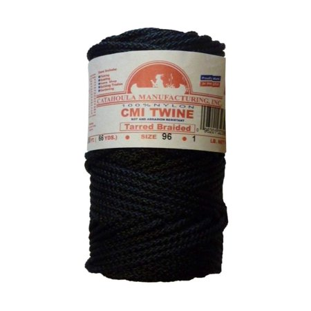 200' Manufacturing #96 Tarred Braided Nylon Twine (Bank Line) 810 lb Tensile Strength, Braided instead of twisted; this means the cord does not unravel easily By Catahoula thumbnail