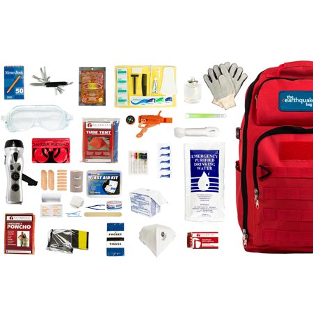 Complete Earthquake Bag - Most popular emergency kit for hurricanes, fires, earthquakes, floods + other disasters (1 person, 3 days)