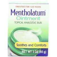 2 Pack Mentholatum Original Topical Analgesic Ointment Aromatic Vapor Rub 3oz
