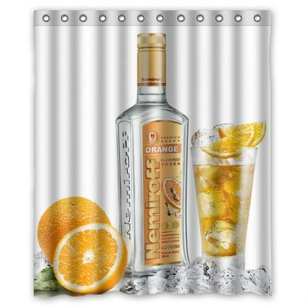 Ganma orange flavored vodka Shower Curtain Polyester Fabric Bathroom Shower Curtain 60x72 inches ()