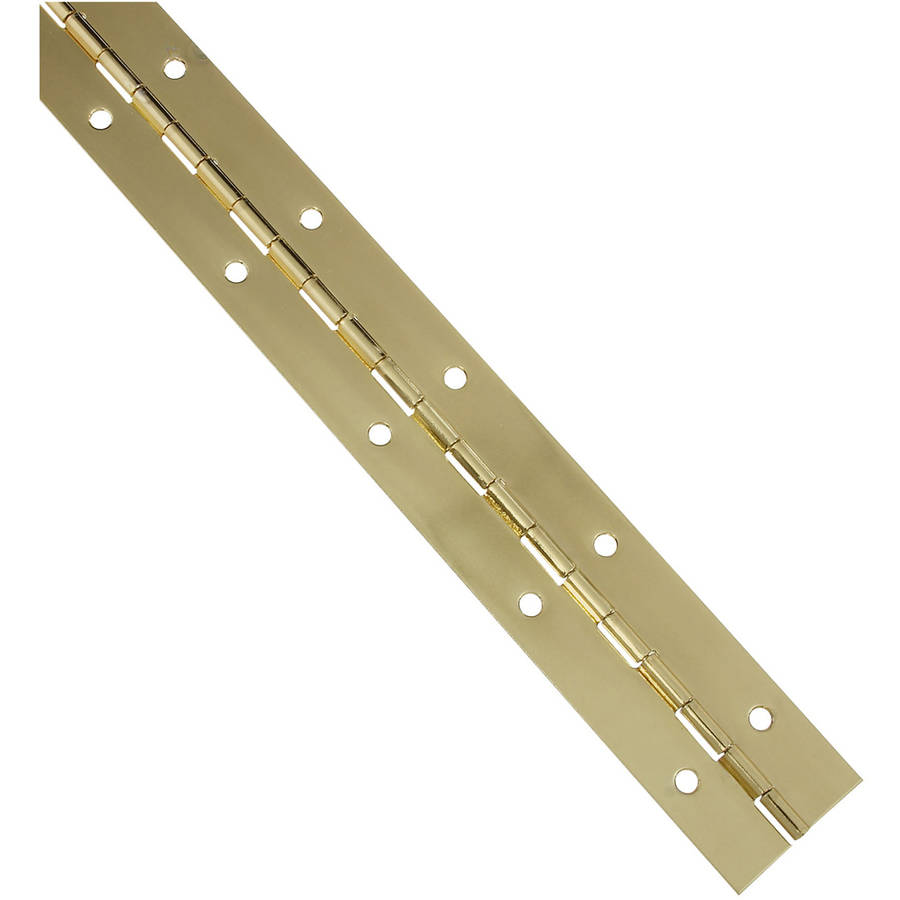 """Stanley S701338 1-1/2"""" x 12"""" Brass Continuous Hinge"""