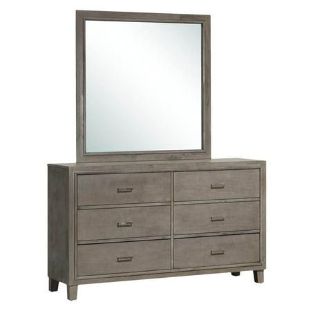 dresser and mirror set in gray. Black Bedroom Furniture Sets. Home Design Ideas