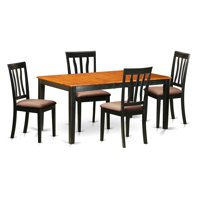 East West Furniture Nicoli 5 Piece Splat Back Dining Table Set