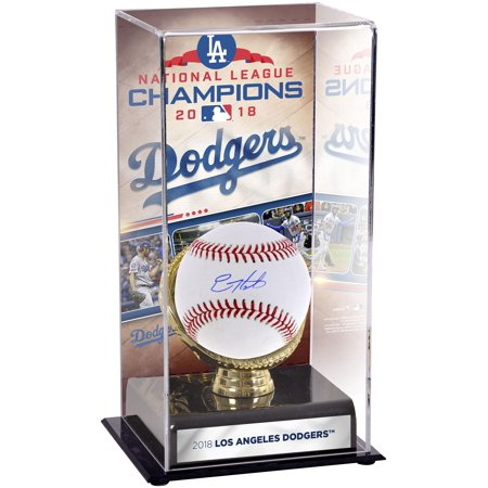 Enrique Hernandez Los Angeles Dodgers Autographed Baseball and 2018 National League Champions Sublimated Display Case with Image - Fanatics Authentic Certified Orlando Hernandez Autographed Baseball