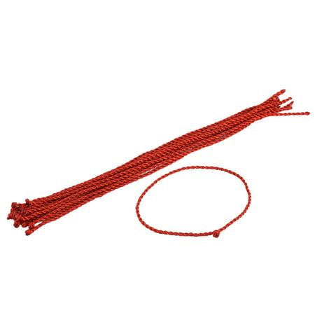 Lady Nylon Handmade Braided Wrist Neck Bracelet Bangle Rope String 15pcs - image 3 of 3