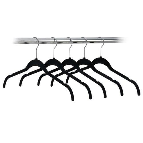 Canopy Black 5-Pack Velvet Shirt Hangers