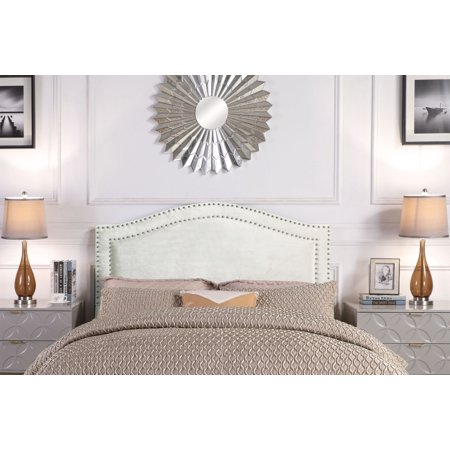 Chic Home Idun Headboard Velvet Upholstered Double Row ()