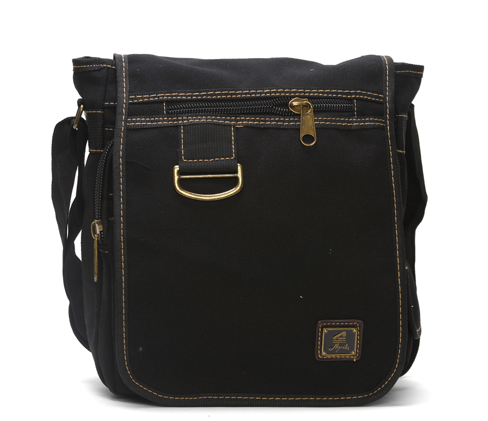 Canvas Vintage Rucksuck Flap Backpack w  Cross Body Strap by GT Collection