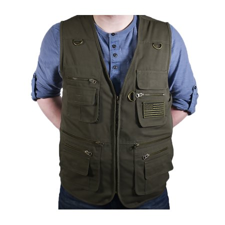 Blue-Stone-Safety-Products-Olive-Concealment-Vest-Fishing-Vest-Hunting-Vest-Travel-Ve