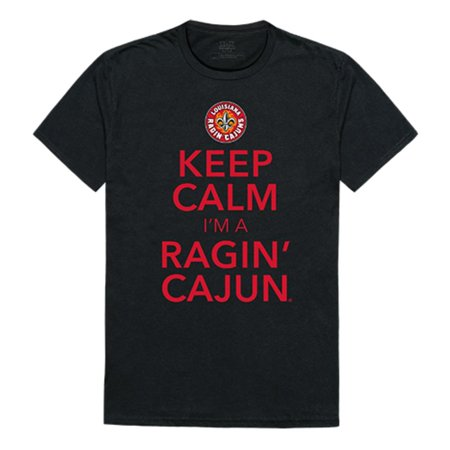 Lafayette Louisiana Halloween (University of Louisiana at Lafayette Ragin' Cajuns NCAA Keep Calm Tee T-Shirt Black)