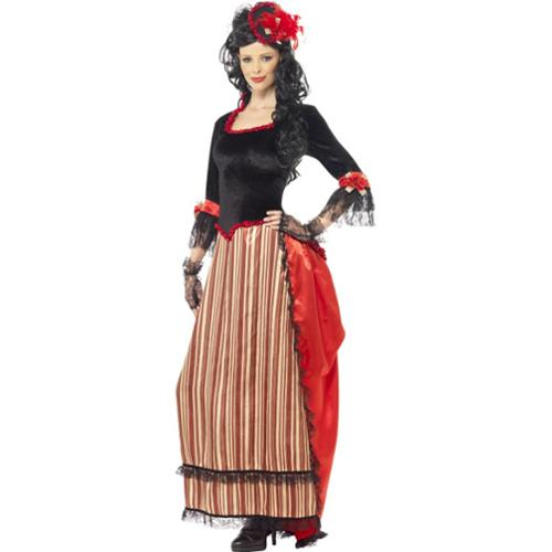 Authentic Western Town Sweetheart Costume, Large