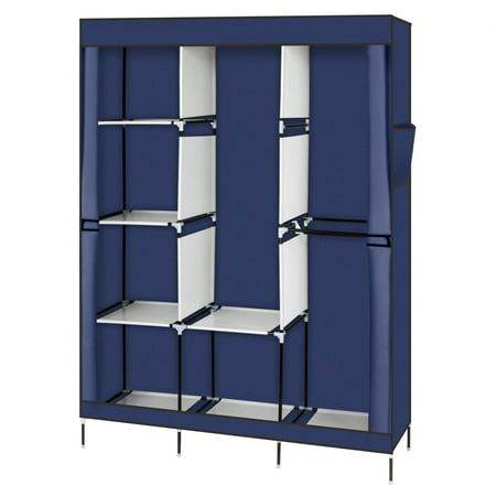 Closet Organizer for Bedroom, Wardrobe Rack for Home, Blue 71\