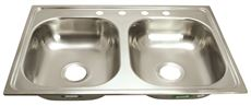 Merveilleux Proplus 4 Hole Double Bowl Kitchen Sink For Mobile Homes, 24 Gauge,