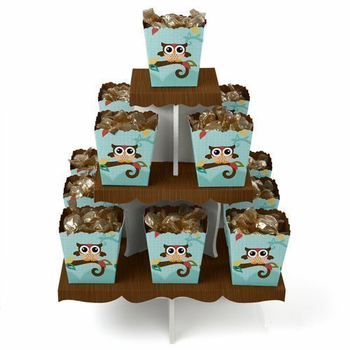 Owl - Candy Stand & 13 Party Candy Boxes