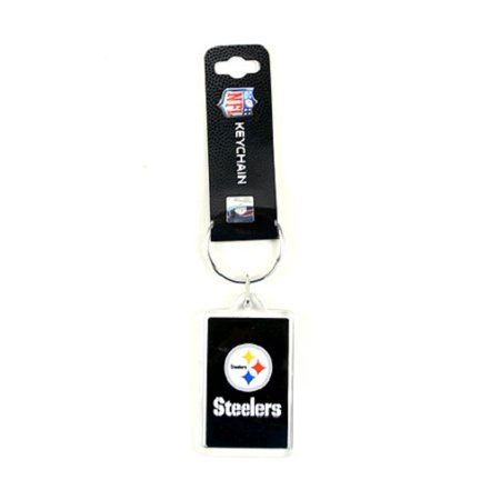 Acrylic Square Key Tag - Pittsburgh Steelers NFL Acrylic Key Chain